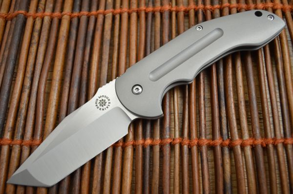 David Mosier Custom Crossfire, Tanto Grind, Frame-Lock Flipper (SOLD)