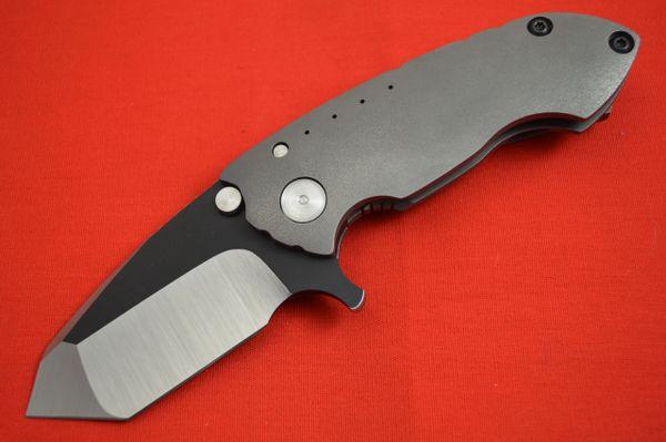 Direware S-90, Full Titanium Frame, M390 Non-Recurve Tanto Flipper, Black Ceramic Flats (SOLD)