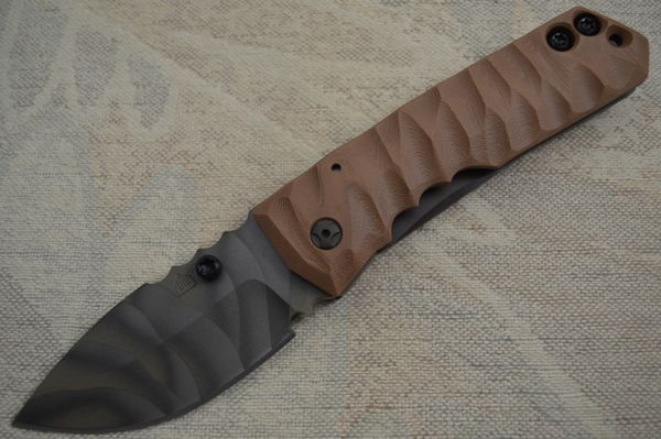 "Crusader Forge FIFP Metro ""3D"", Frame-Lock Folder, Coyote Brown G10 (SOLD)"