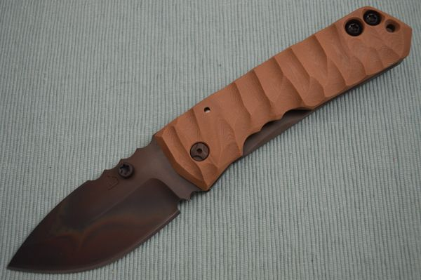 Crusader Forge FIFP Metro Phantom Finish, Frame-Lock Folder, Coyote Brown G10 (SOLD)