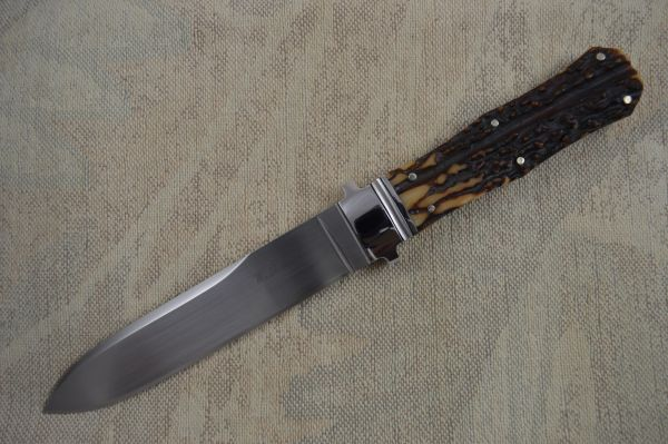 W.D. Pease Stag Handled Fixed Blade Knife - Rare Full INTEGRAL Dirk (SOLD)