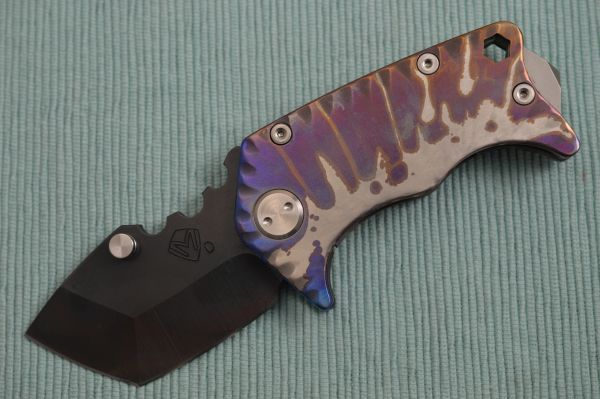 Medford Knife and Tool PANZER, Sculpted Anodized Titanium Handle, Vulcanized D2 Blade (SOLD)
