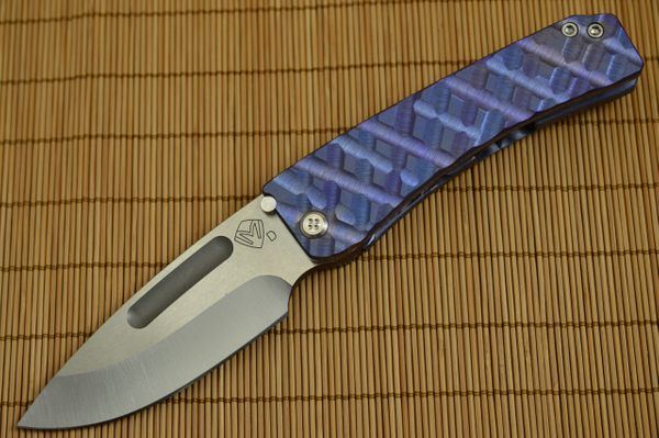 Medford Knife and Tool MIDI MARAUDER, Custom Sculpted and Anodized Titanium Frame