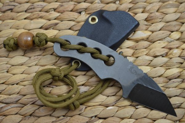 "G.H.K. ""Pocket Razor"" Fixed Blade Neck Knife"