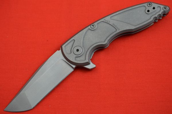 Jake Hoback A8 Slimline Flipper, Sandblasted Stonewash Finish