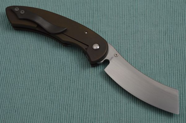 Red Horse Knife Works Level 2 Deluxe HELL RAZOR, Hand Rubbed, Zero Ground CPM154 Blade (SOLD)