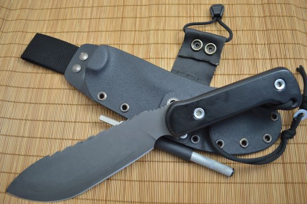 "G.H.K. ""Survival Knife"", Stocked Hollow Handle, Kydex Sheath"
