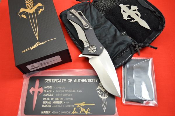 Anthony and Sean Marfione STARLORD Frame-Lock Flipper, Elmax Blade, G10 Handle