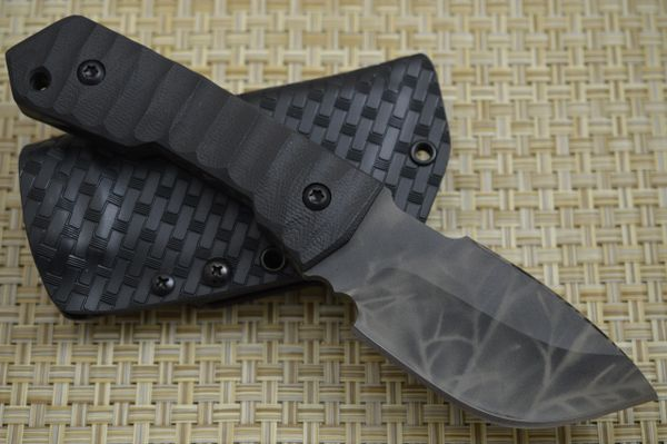 Crusader Forge VIS F Tactical Fixed Blade, Dammeron Camo Finish, Tek-Lok Kydex Sheath (SOLD)