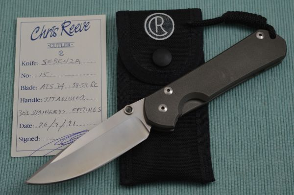 ORIGINAL Chris Reeve Handmade SEBENZA, Serial No. H15, Dated 1991 (SOLD)