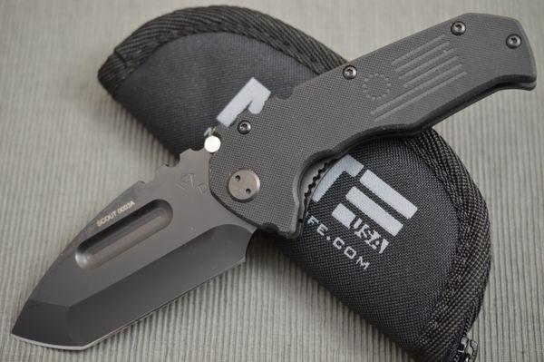 Medford MKT Praetorian SCOUT Liner-Lock Knife, Black G-10, Serialized #0003A