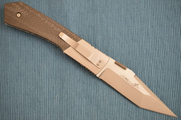 "Brian Tighe Original Custom ""Tighe Tac"" Liner Lock, Chisel Ground 4.25"" Blade (SOLD)"