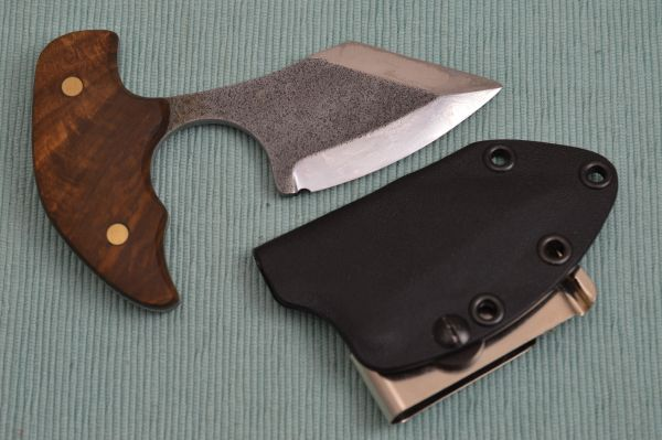 "G.H.K. ""Push Bowie"" Fixed Blade Knife, Kydex Sheath"