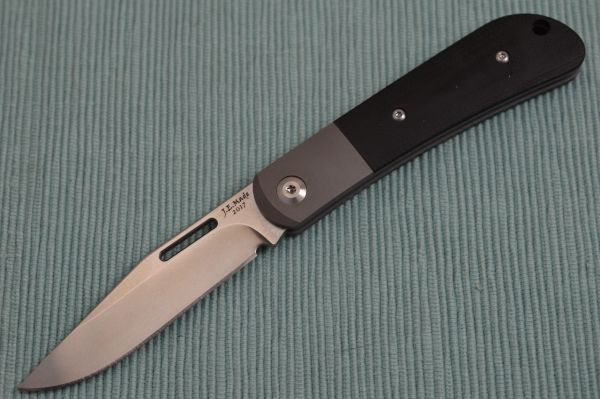 J.E. Made Slip-Joint Folder, Black G10 Scales, Titanium Bolster, S35VN (SOLD OUT)