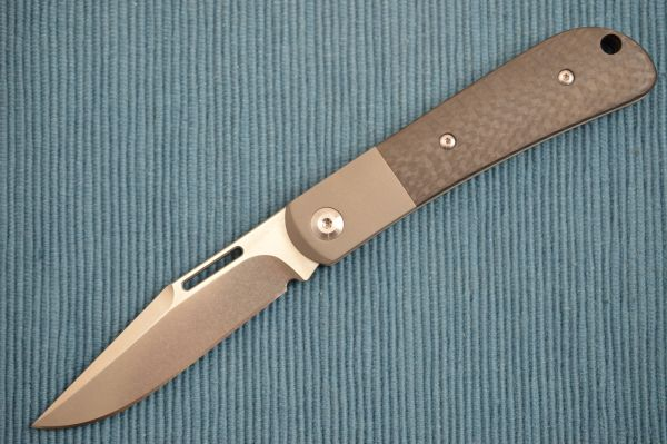 J.E. Made PROTOTYPE Slip-Joint Folder, Carbon Fiber Scales, Titanium Bolster, S35VN (SOLD)