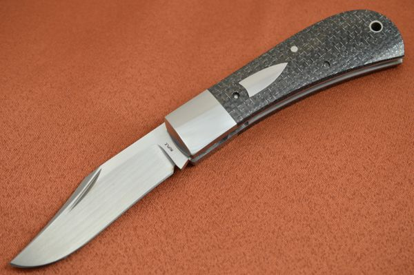 Bill Ruple LANNY'S CLIP, Lightning Strike Carbon Fiber Scales, 2018 Blade Show (SOLD)
