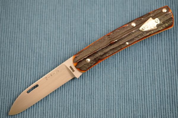 Steve Dunn M.S., Stag William Scagel Tribute, Slip-Joint Folding Knife (SOLD)
