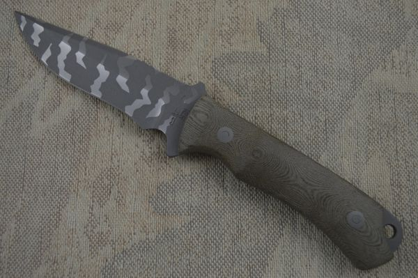 "Kevin Hoffman KLH Duo-Tone Camo ""Back Country"" Fixed Blade Knife (SOLD)"