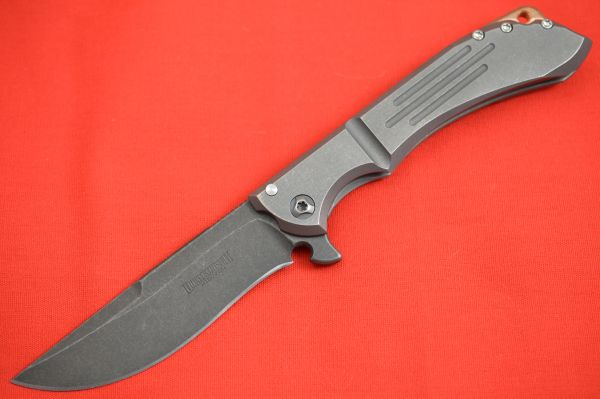 Dervish Alchemy TAD Edition, Mid-Tech Frame-Lock Flipper, Smokewashed Blade (SOLD)