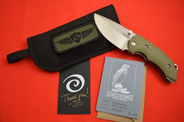 "Dervish Knives ""Comanche"" Midtech Variant Two, OD Green G10 (SOLD)"