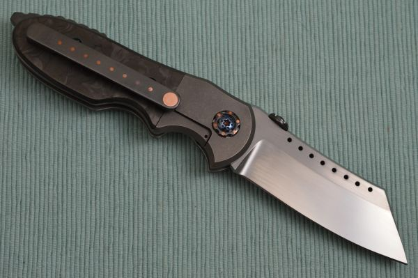 Red Horse Knife Works Full Custom BLACK DEATH CHOPPER - Last One!