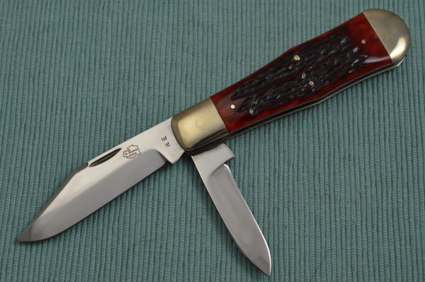 Robert Enders Large Two-Blade Coke Bottle, Jigged Bone Slip-Joint Folding Knife