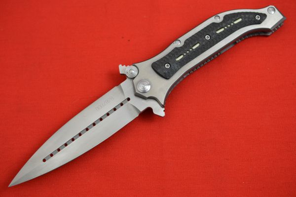 "Darrel Ralph DDR/RPB 4"" Spearpoint AXD Spring Assisted Frame-Lock Flipper, Tritium Inlays"
