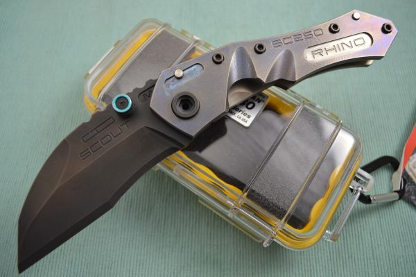 Dwaine Carrillo SCOUT M4, Full Titanium, Black Oxide Finish Blade, #4 of 6 Last of the Frame-Locks (SOLD)