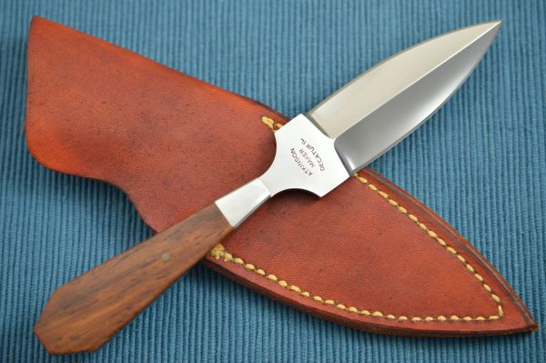 Dick Atkinson Custom Handmade Chisel Ground Fixed Blade Dagger (SOLD)