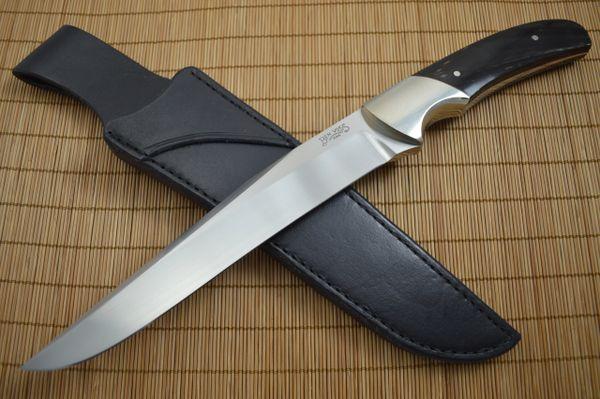 Ben Voss Large Buffalo Horn Fighter, Custom Fixed Blade Knife (SOLD)