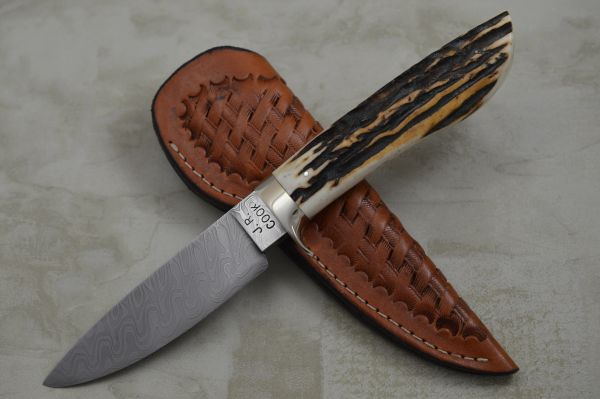James R. Cook M.S. Damascus Blue Bayou Hunter