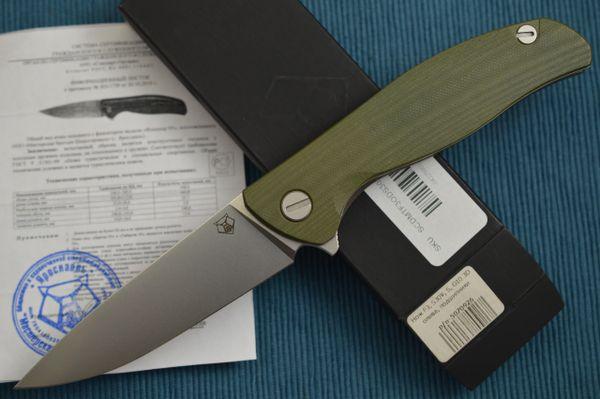 Shirogorov F3 Liner-Lock Flipper, S30V, OD Green G10, 3D Clip (SOLD)