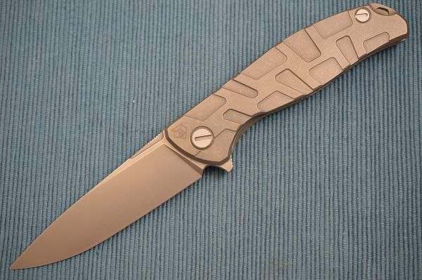 Shirogorov 95T Turtle Pattern Titanium Frame-Lock Flipper, MRBS (SOLD)