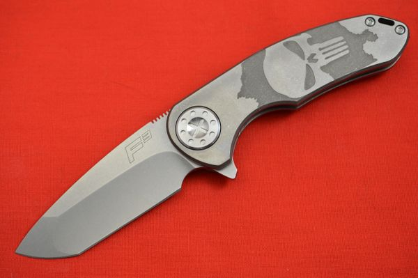 Curtiss Knives F3 Medium Frame-Lock PUNISHER Flipper Knife (SOLD)