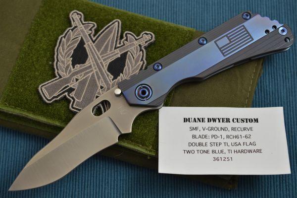 Duane Dwyer SMF Custom Folding Knife, U.S.A. Flag