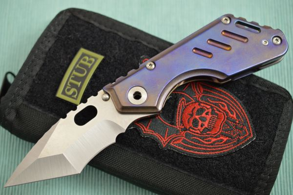 Mick Strider Custom STUBBY, Nightmare Grind Tanto, Frame-Lock Folder (SOLD)
