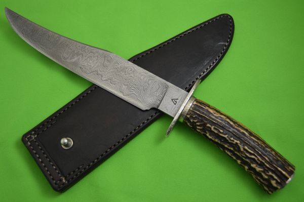 Bert Gaston, M.S. Damascus & Sambar Stag Fighter, Bill Moran ST-24 Inspired (SOLD)