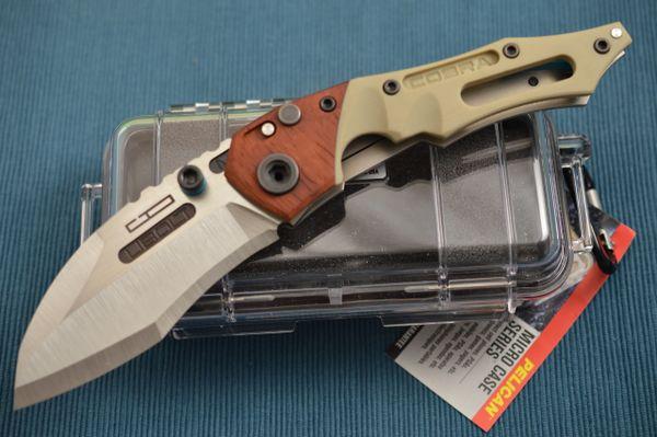 Dwaine Carrillo Cobra M6 Prototype, Button-Lock, African Padauk (SOLD)
