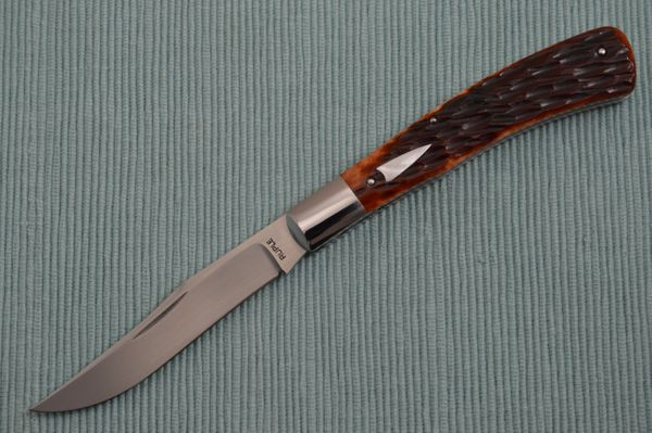 Bill Ruple Jigged Bone Bird & Trout, Slip-Joint Folding Knife (SOLD)