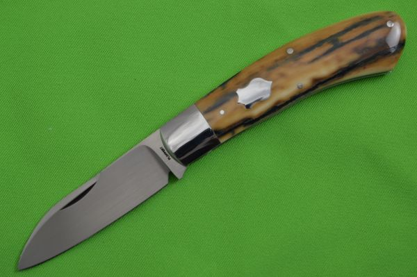 Tom Ploppert Large DINO, Slip-Joint Folding Knife, Fossilized Scales (SOLD)