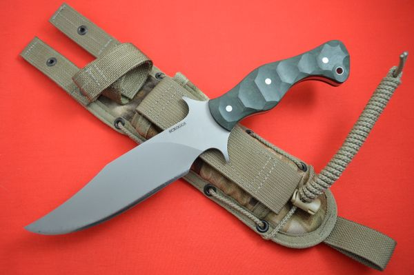 "James Scroggs ""On Your Six Fighter"", Warwood Handle, Spec-Ops Sheath"
