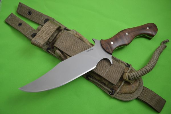 "James Scroggs ""On Your Six Fighter"", American Black Walnut Handle, Spec-Ops Sheath"