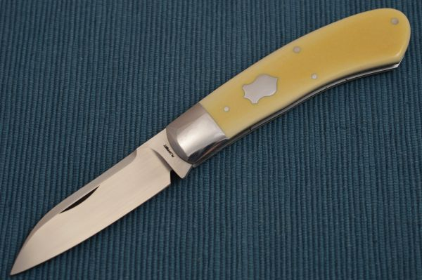 Tom Ploppert DINO, Slip-Joint Folder, Old Westinghouse Micarta Scales (SOLD)