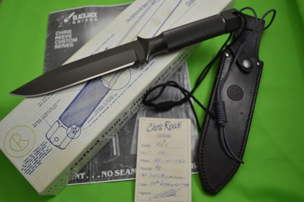 Chris Reeve South Africa Mark V, 1988 Black Jack Knives Import, Box and COA
