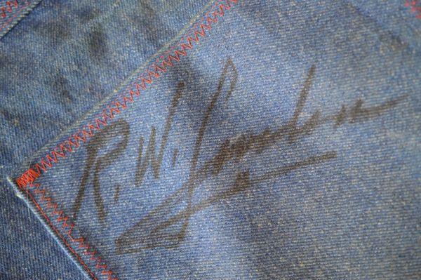 "R.W. ""Bob"" Loveless Signed Denim Shop Apron"