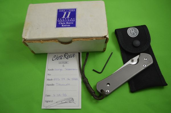 """1995 Chris Reeve CRK Large """"P"""" SEBENZA, Boxed, Pouch, Tool, COA (SOLD)"""