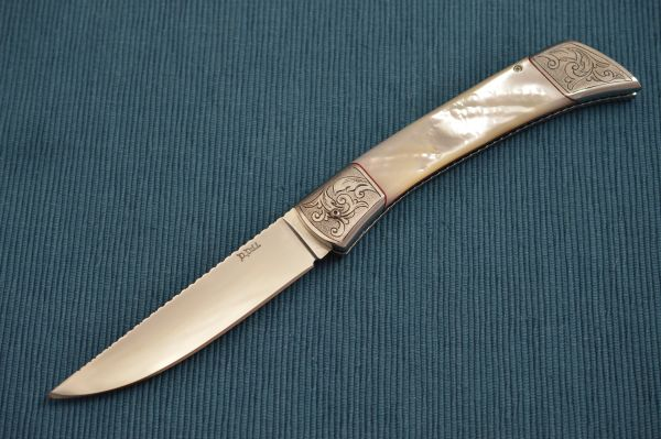 David Dill Mother Of Pearl Scale Release Auto, Engraved, File-Work