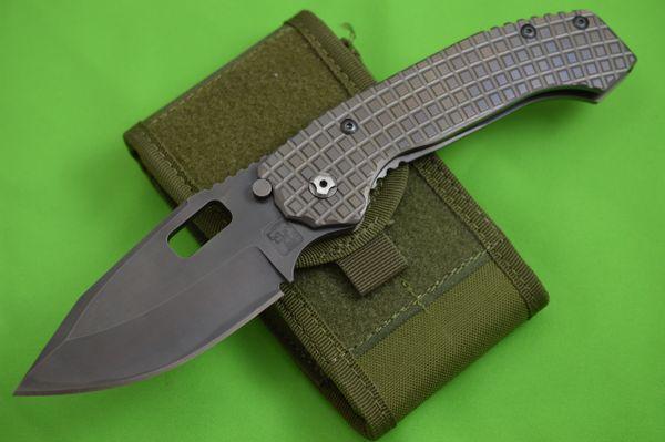 Trouble Blades Full Size Custom Mofo-L-Frag, B.W. Swedge Folding Knife