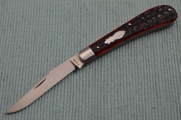 Reese Bose Slip-Joint Trapper, Red Jigged Bone Scales (SOLD)