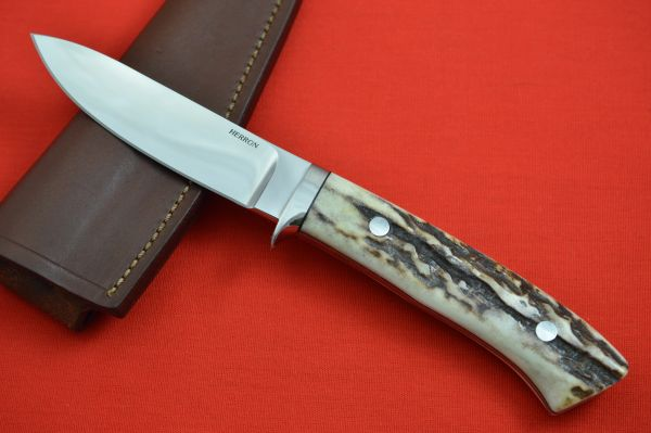 George Herron Stag Hunter, Signed Sheath, Last Knife Made In 1999 (SOLD)